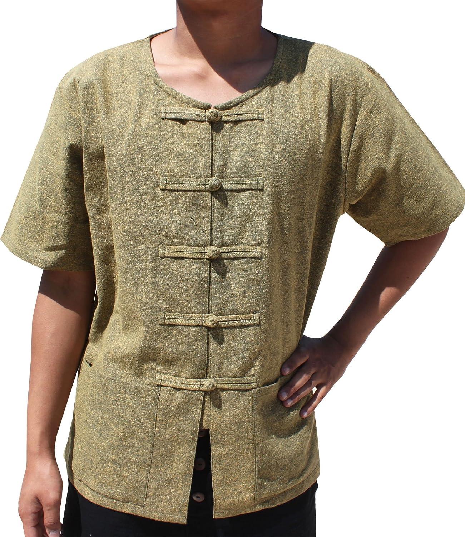 Svenine Brand Stonewashed Medieval Cotton Frog Button Front Peasants Shirt