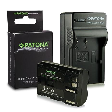 caricabatteria USB dual per Canon BP-110 2x Batteria Patona