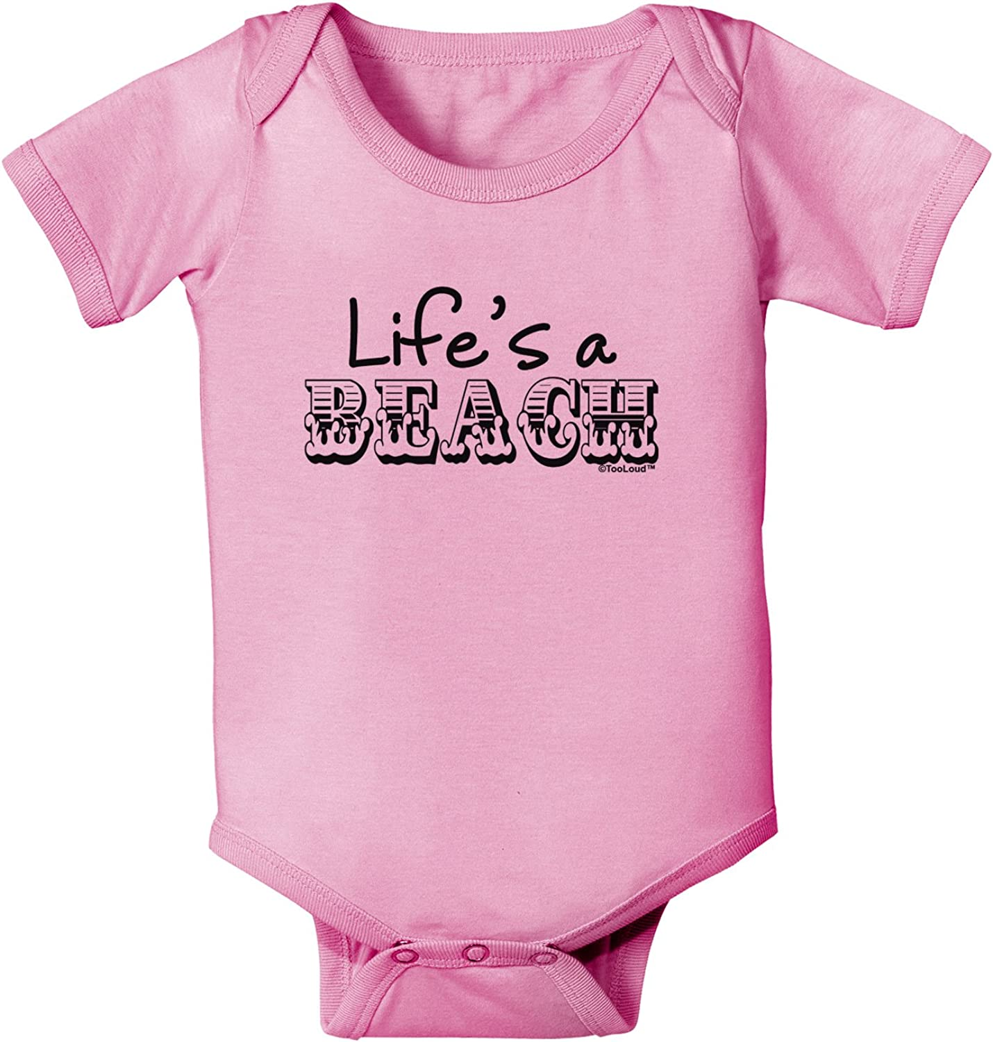 TooLoud Lifes a Beach Baby Romper Bodysuit