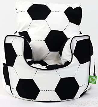 Incredible Cotton Football Bean Bag Arm Chair With Beans Ocoug Best Dining Table And Chair Ideas Images Ocougorg