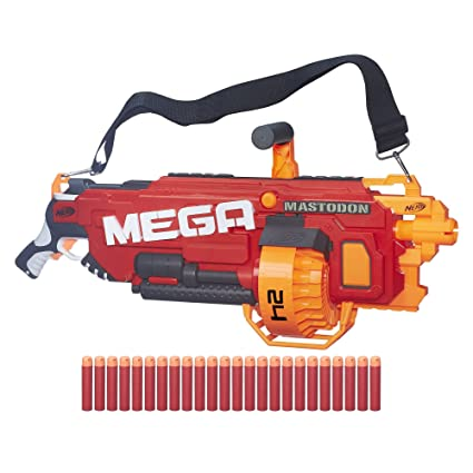 Amazon Com Nerf N Strike Mega Mega Mastodon Toys Games