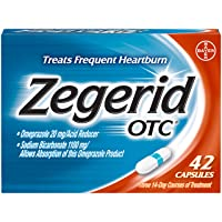 Zegerid OTC Heartburn Relief, 24 Hour Stomach Acid Reducer Proton Pump Inhibitor...