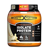 Body Fortress Super Advanced Whey Protein Isolate Powder, Gluten Free, Vanilla,...