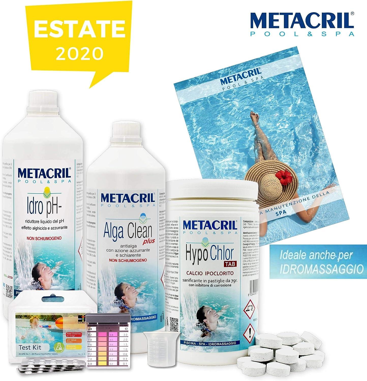 Metacril Starter Kit Hypo Chlor para Piscina e hidromasaje con ...