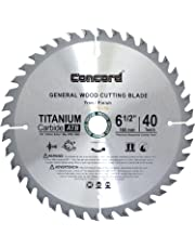 Concord Blades WCB0650T040HP 6-1/2-Inch 40 Teeth TCT General Purpose Hard and Soft Wood Saw Blade