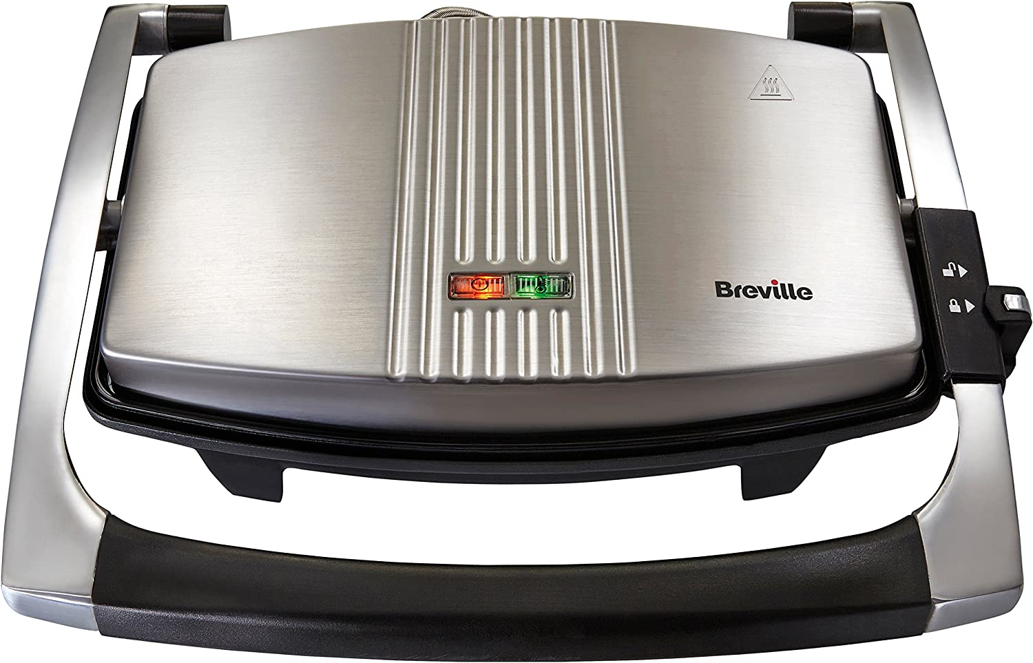 Breville Sandwich/Panini Press and Toastie Maker, 3-Slice, Stainless Steel [VST025]