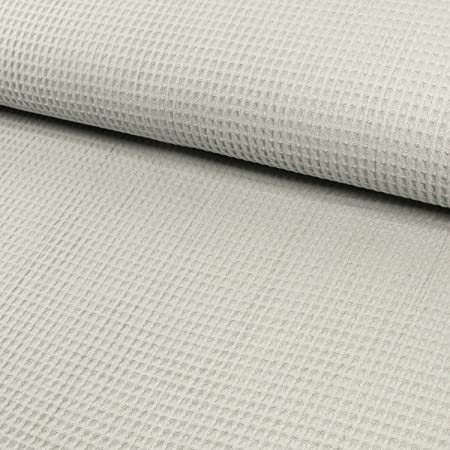 Tela de algodón piqué cuadriculada gris claro – Precio de 0,5 ...