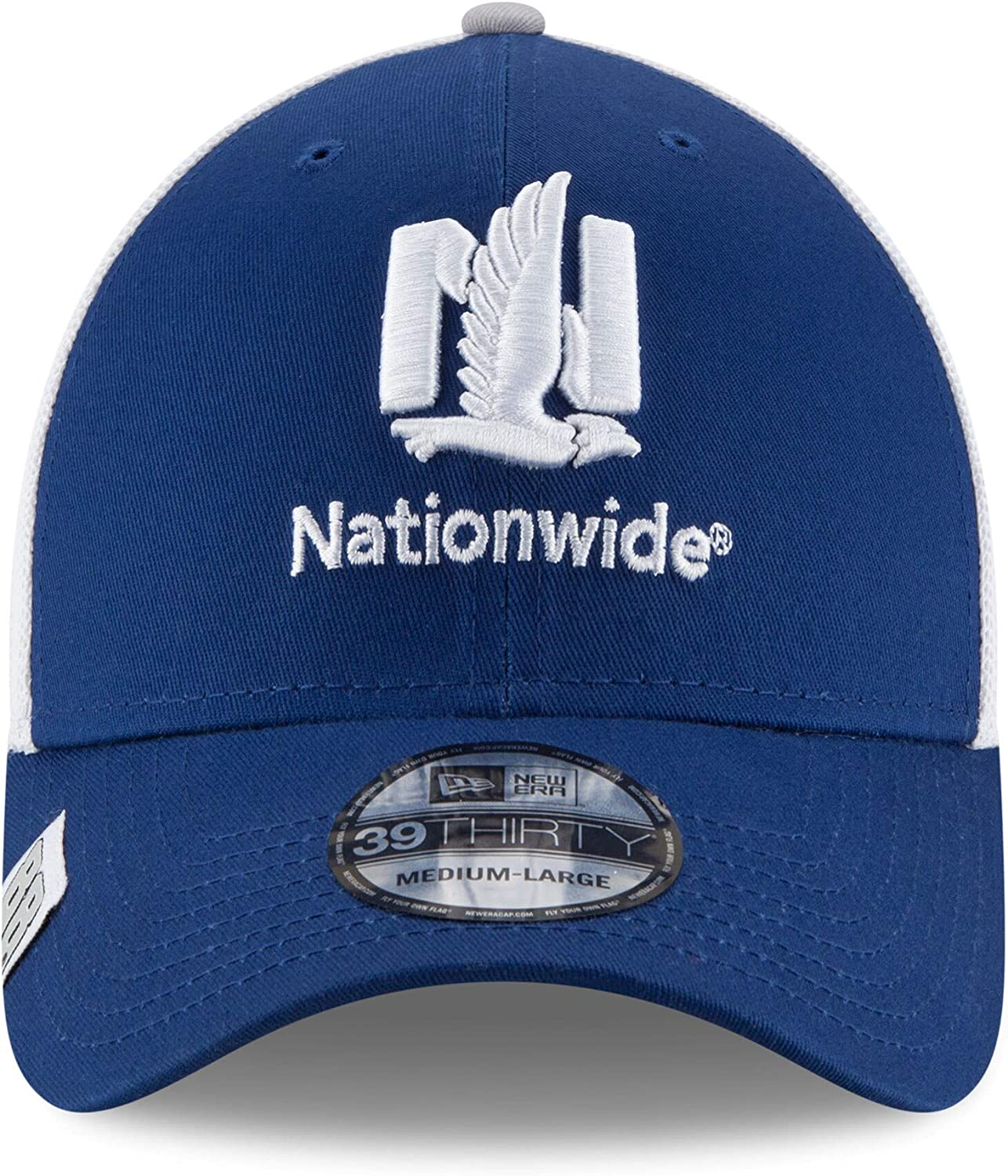 NASCAR Dale Earnhardt Jr Nationwide Logo Wrapped 39THIRTY Stretch Fit Cap