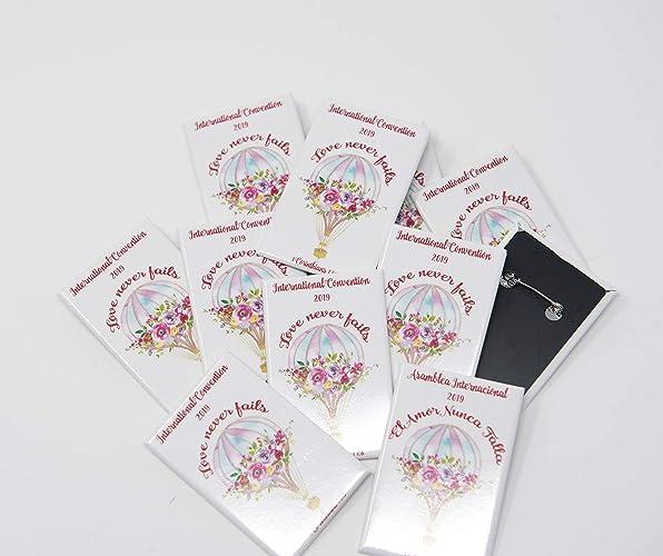 Amazon com: ENGLISH - 50 Lapel Buttons Pins - Love Never