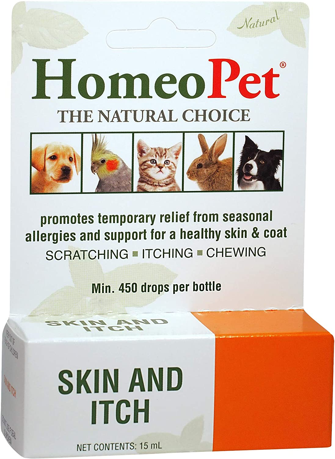 HomeoPet Skin & Itch Relief, 15 ml : Pet Itch Remedies : Pet Supplies