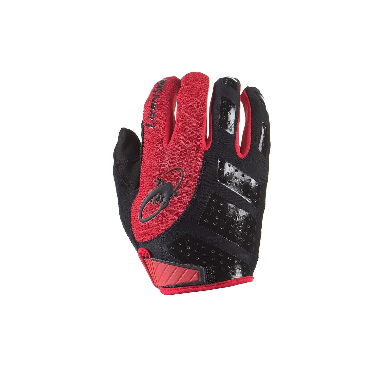 Lizard SkinsモニタSLフル指サイクリンググローブ B01LY9XXDHJet Black/Crimson X-Large