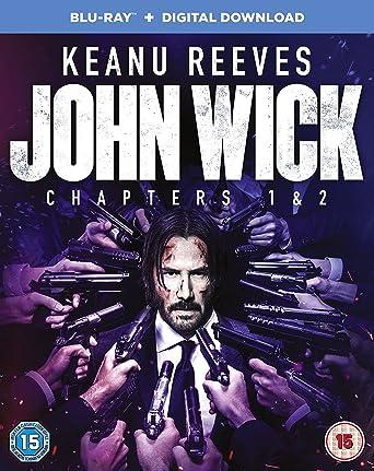 Amazon Com John Wick Chapter 1 2 Blu Ray Keanu Reeves Willem