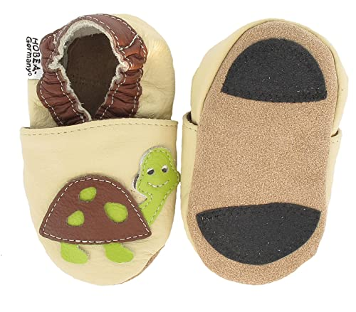 uk availability 59d56 d564a HOBEA-Germany Baby Lauflernschuhe Tiermotiv mit Anti-Rutsch-Sohle, Kinder  Hausschuhe Mädchen & Jungen, Lederschuhe Baby (22/23 (18-24 Mon), ...