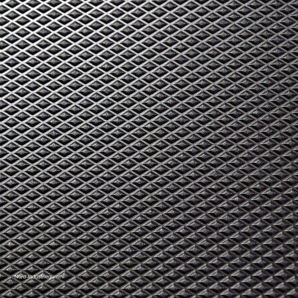 Farbe: schwarz St/ärke: 3mm 1,20 x 0,83m 1m/² Diamantmotiv Gummimatte