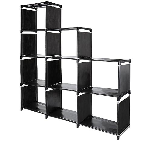 9 Cube Storage Shelves, SJHL DIY Modular Closet Organizer Unit And  Bookshelf Cabinet For Clothes