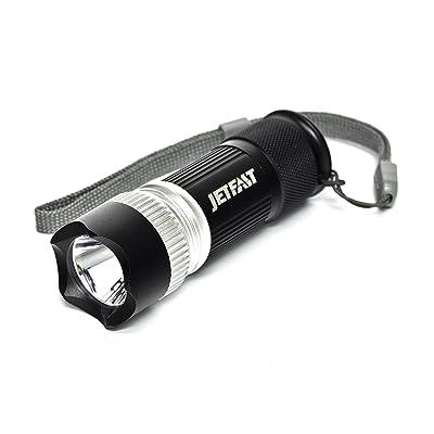 JetFast lampe torche LED rechargeable avec PowerPod, Aluminium, noir, Length - 99 mm