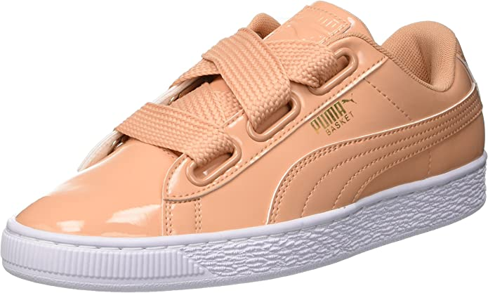Puma Basket Heart Patent Sneakers Damen Orange (Dusty Coral)