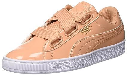 Puma Basket SneakersOrangedusty Heart Patent Wn'sDamen f76Ybgyv