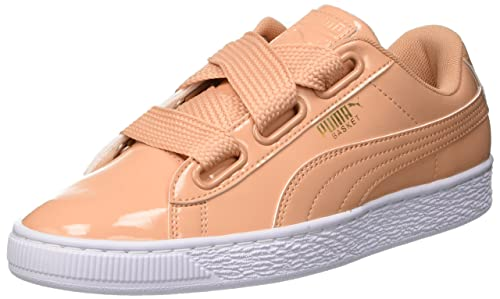 new styles bb757 a7f66 Puma Women Basket Heart Patent Low-Top Sneakers