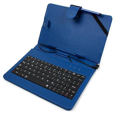 duragadget custodia ttastiera  DURAGADGET Custodia/Tastiera Blu per Tablet di 7