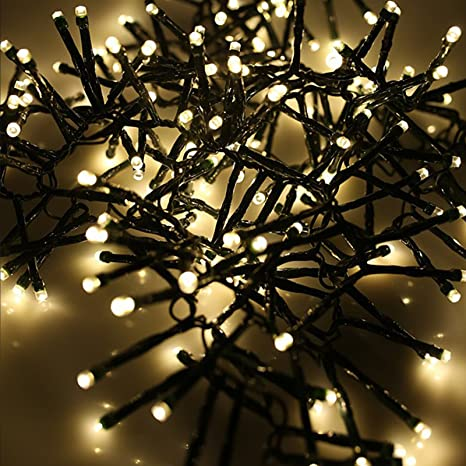 new product 0b36c d79f4 AMOS 192 Super Bright LED 2.5m Cluster Fairy Lights Battery Operated for  Indoor Outdoor Christmas Tree Garden Decoration (Warm White)