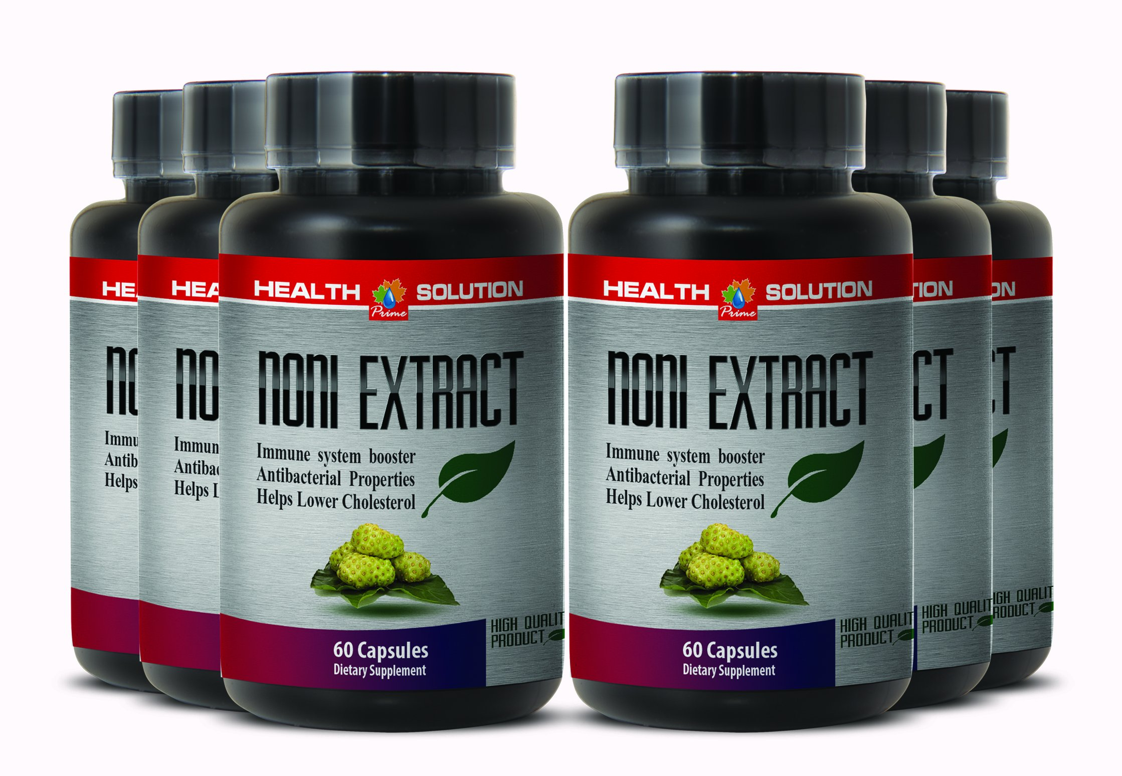 Organic noni leaf extract - NONI 8:1 CONCENTRATE 500MG - support immune system (6 Bottles) by Health Solution Prime