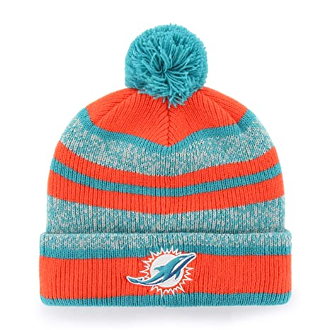 e5110d78d40 ... coupon for ots nfl miami dolphins huset bravo cuff knit cap with pom  neptune one size