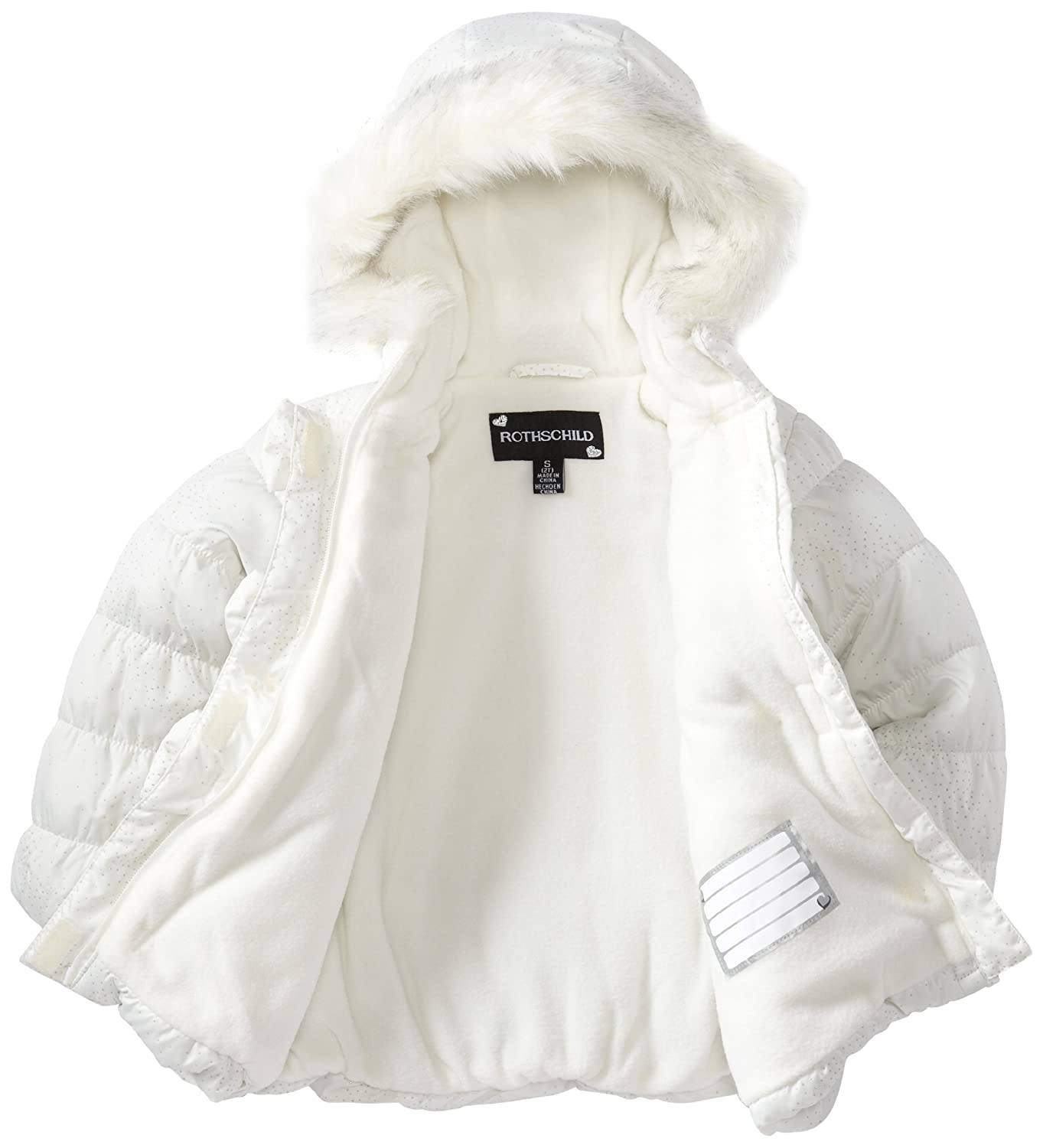 c48113773 Amazon.com  Rothschild Little Girls  WIH Sparkle and Bows Coat ...
