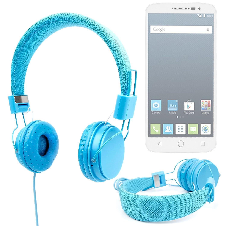 80b47ad3e12 DURAGADGET Auriculares Color Azul para Alcatel Pop OneTouch 2 (5) / (4.5) /  (4) / PIXI 3 (4) / (3.5): Amazon.es: Electrónica