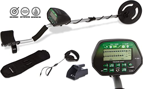 Treasure Cove TC-3020 Fortune Finder Digital Platinum Gold Silver Metal Detector Set