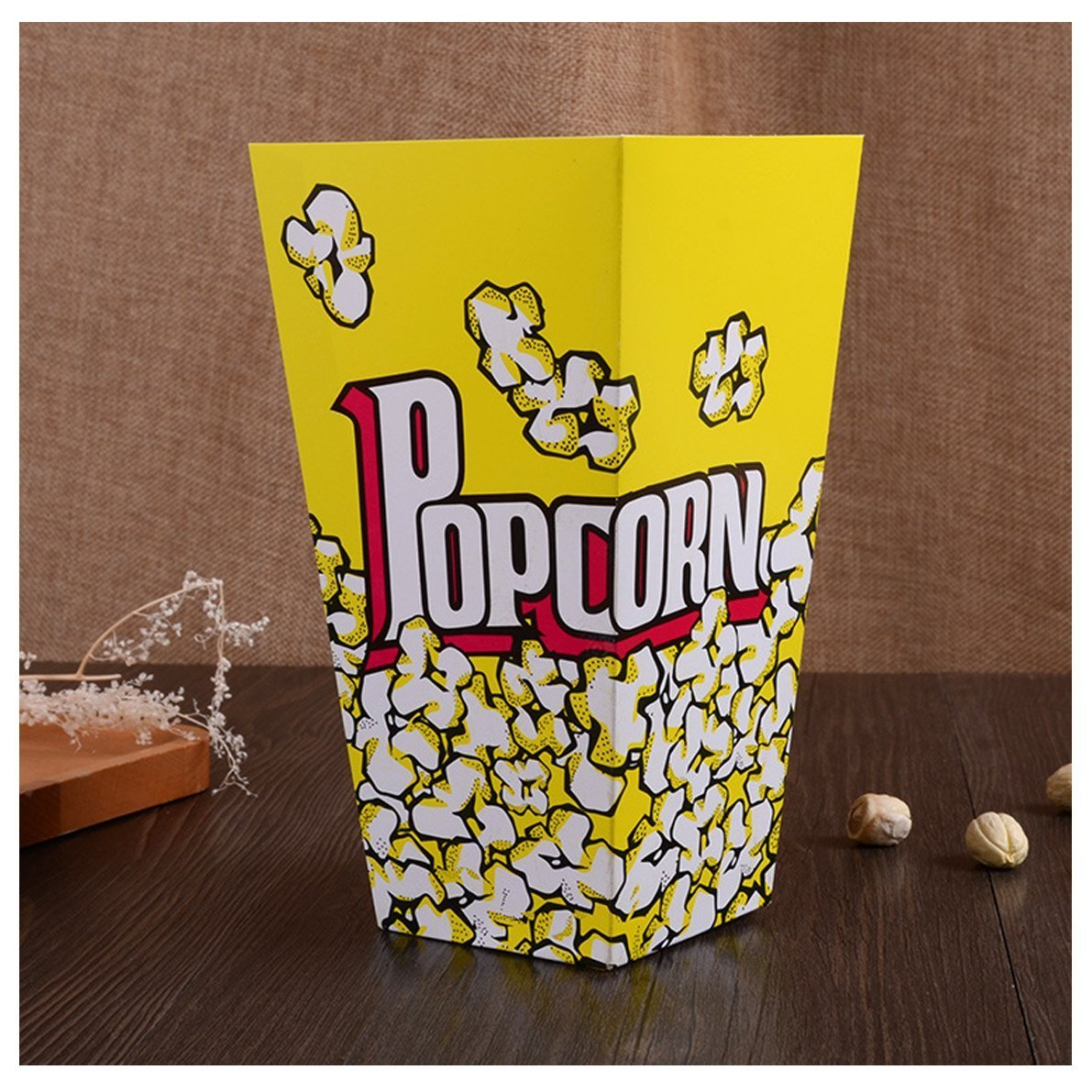 Drhob Set of 40 Movie Theater Popcorn Boxes - Small Paper Popcorn Favor Bags Cardboard Candy Container Supplies for Concession Stands,Carnival,Party,Wedding