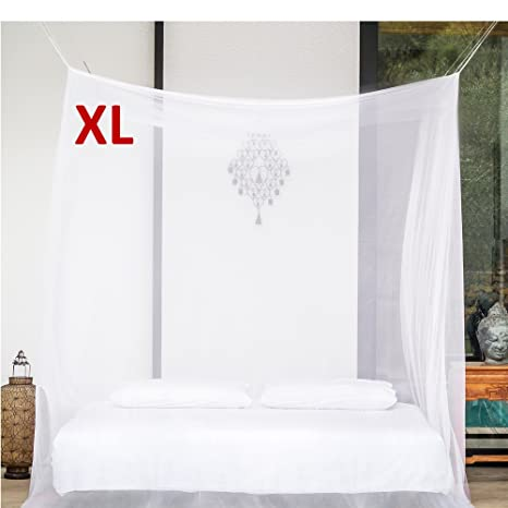 EVEN Naturals PREMIUM MOSQUITO NET For EXTRA LARGE Canopy Bed By, TWO  Openings, Hanging
