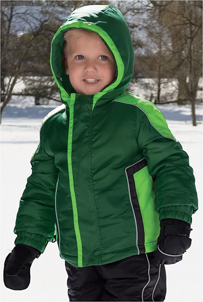 4af79df0e Cozy Cub Premium Waterproof Grow-with-Me Hooded Winter Jacket, Boys Ages 1-8