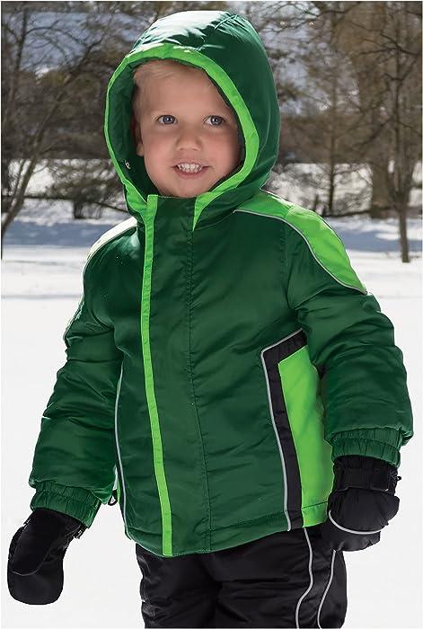f4ad444a4 Amazon.com  Hunter Green Baby Boy Waterproof Hooded Winter Jacket by ...