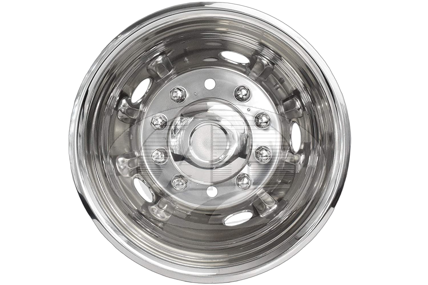 A 19.5 Stainless Steel Wheel Simulator for Dodge 4500//5500 2011-Current Bolt-on