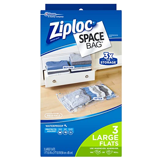 Ziploc bolsas de espacio doble uso 3 bolsas grandes 3 x la ...