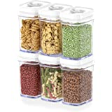 DWËLLZA KITCHEN Airtight Food Storage Containers with Lids Airtight – 6 Piece Set/All Same Size - Medium Air Tight Snacks Pan