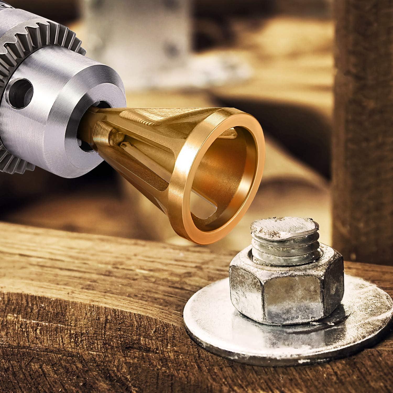 Black Stainless Steel Deburring External Chamfer Tool Bit Remove Burr 8-32 Bo TD