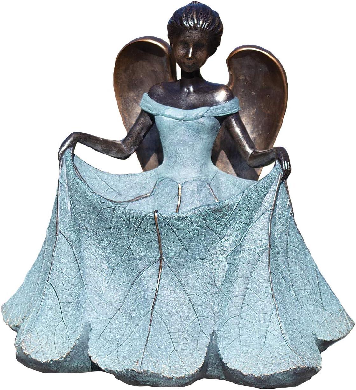 Roman Garden - Angel Bird Feeder, 13.25H, Garden Collection, Resin and Stone, Decorative, Garden Gift, Home Outdoor Decor, Durable, Long Lasting