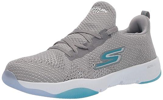 Skechers Women's GO Run TR-15191 Sneaker, Gray/Blue, 6.5 M US