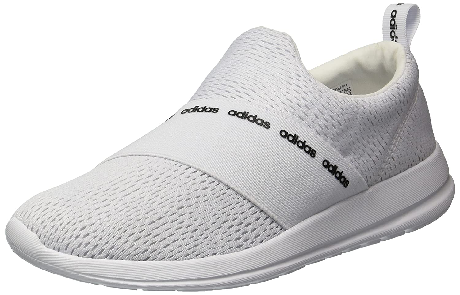 adidas Women's Refine Adapt Running Shoe B071P19HQ8 8 B(M) US|White/White/Grey