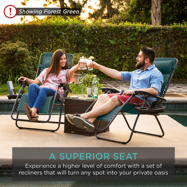 Adjustable Steel Mesh Zero Gravity Lounge Chair Recliners