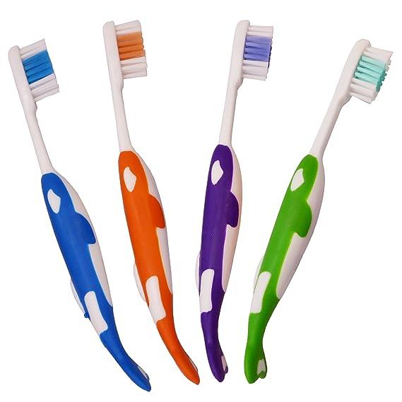 32 Cepillos Dentales para Niños ~ Paquete al Mayor de Cepillos Manuales (Delfín): Amazon.es: Salud y cuidado personal