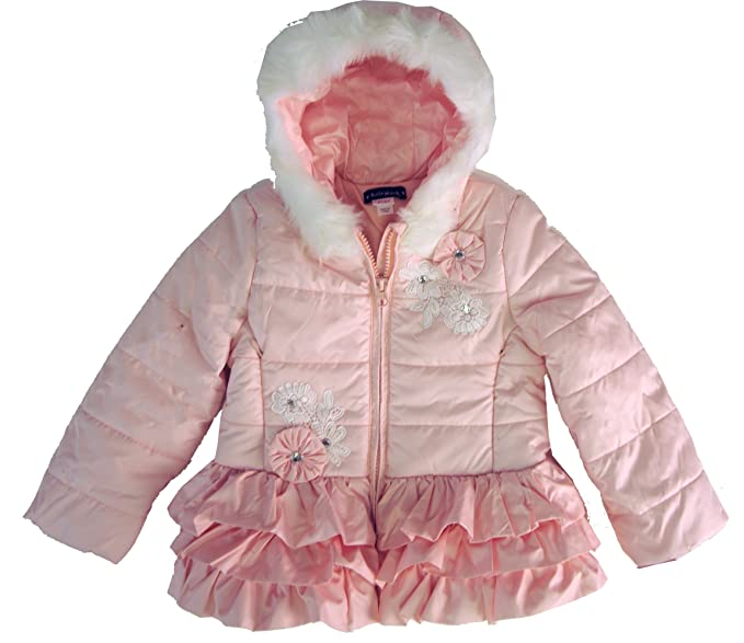 c1bf2ac062c2a Amazon.com  Kate Mack Pretty Pink Quilted Hooded Winter Coat (2T ...