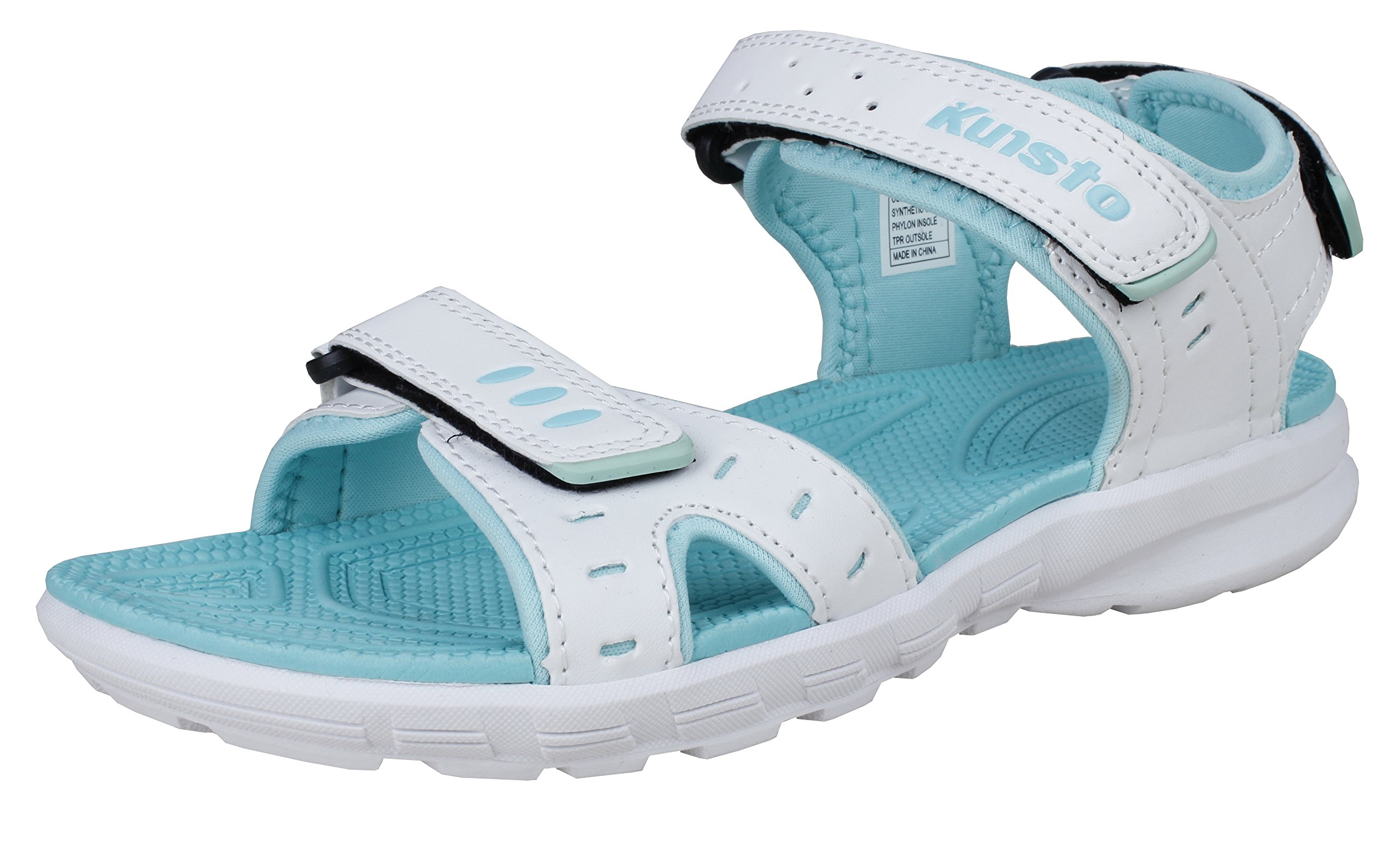 Kunsto Women's Outdoor Water Athletic Sporty Sandals Blue Size 8 by Kunsto