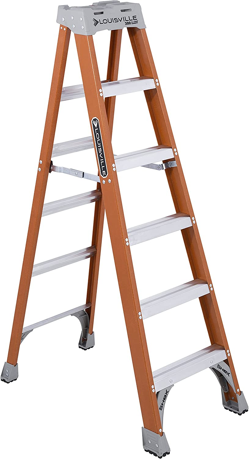 Louisville Ladder 6-Foot Fiberglass Ladder, 300-Pound Capacity | eDesign Tools for DIY Enthusiasts by Revision Custom Home Design | eDesign Tribe Blog