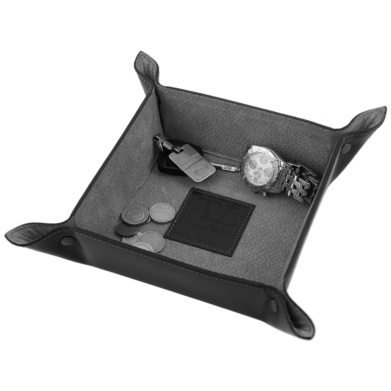 Tuscany Leather - Elégant videpoches en cuir petit modèle - Marron - Homme y2SFupg0p