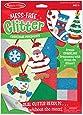 Melissa & Doug Mess-Free Glitter Christmas Ornaments - 6 Ornaments, 7 Glitter Sheets