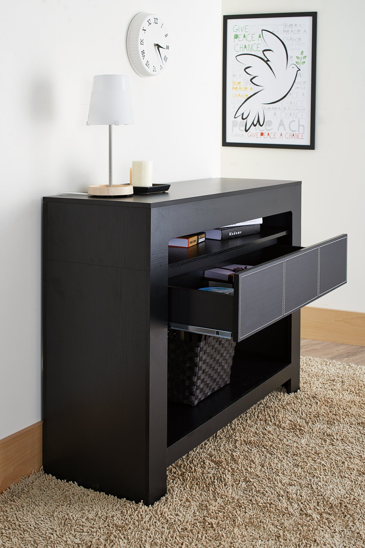 ioHOMES Lado Contemporary Console Table, Black by HOMES: Inside + Out (Image #4)