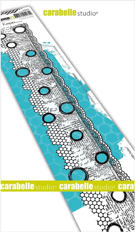 Carabelle Studios Timbri Cling di Carabelle Studio taglia unica per Stampa su Carta Realizzazione di Biglietti e Scrapbook Border with Holes